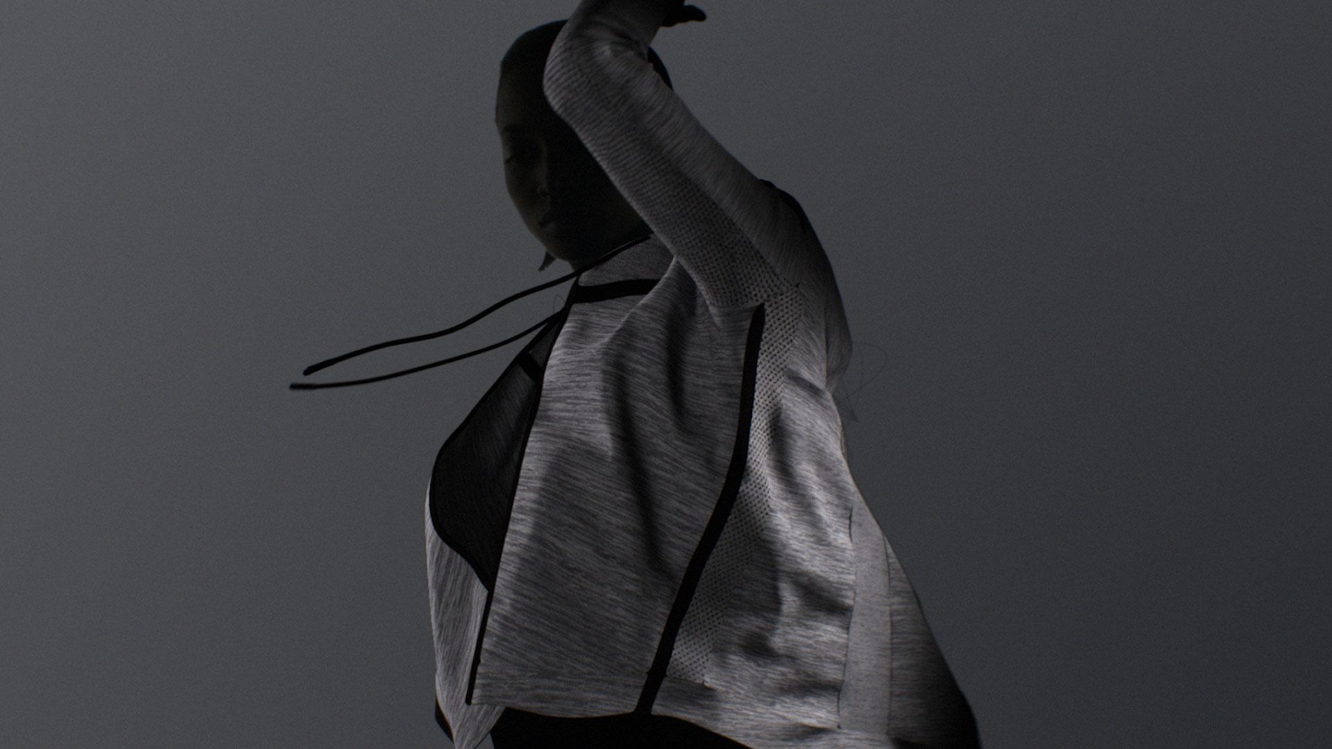 Nike Flyknit sport 3d cgi wind runner woman fabric