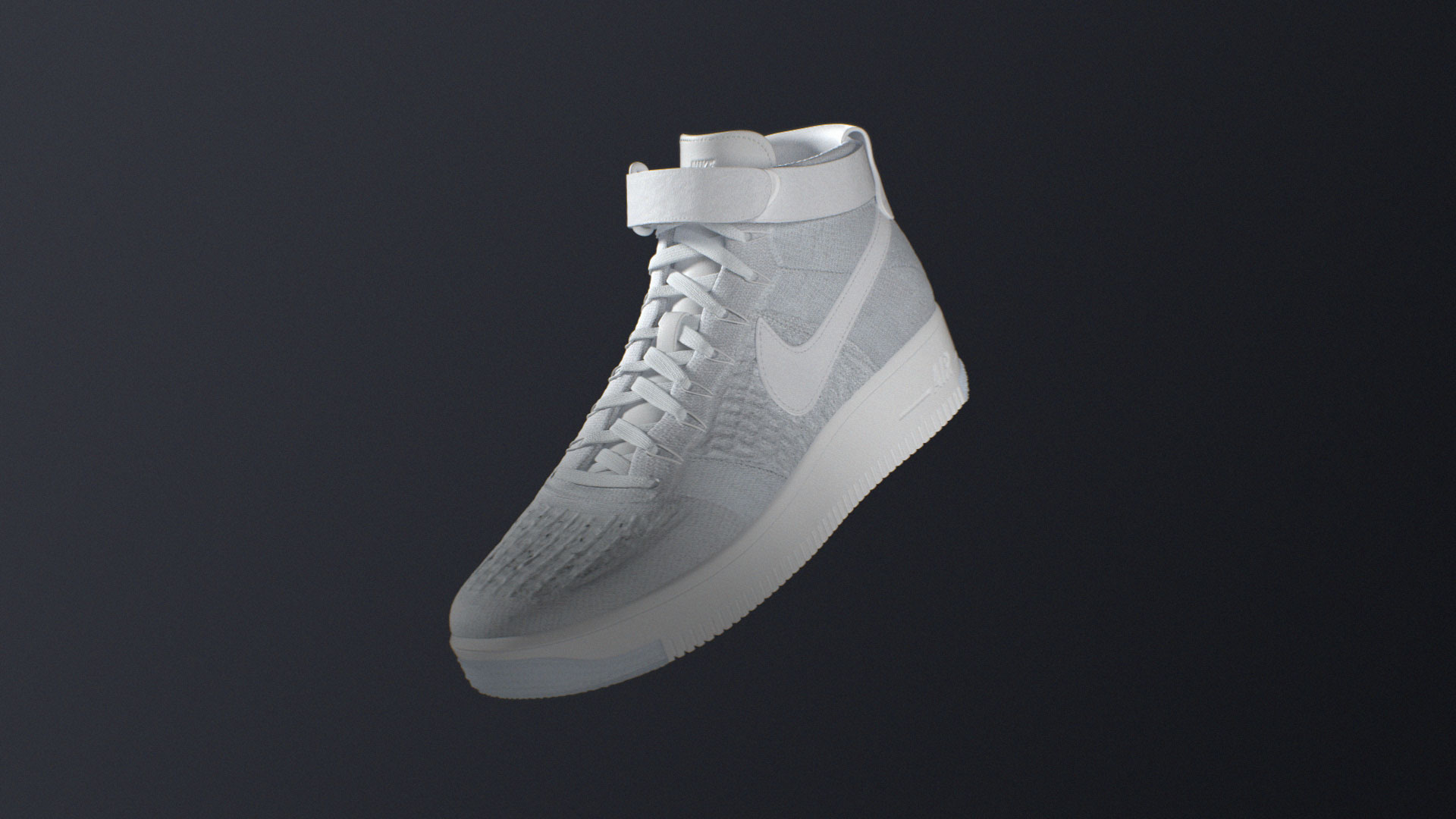 Nike Flyknit sport 3d cgi Air force 1 shoe