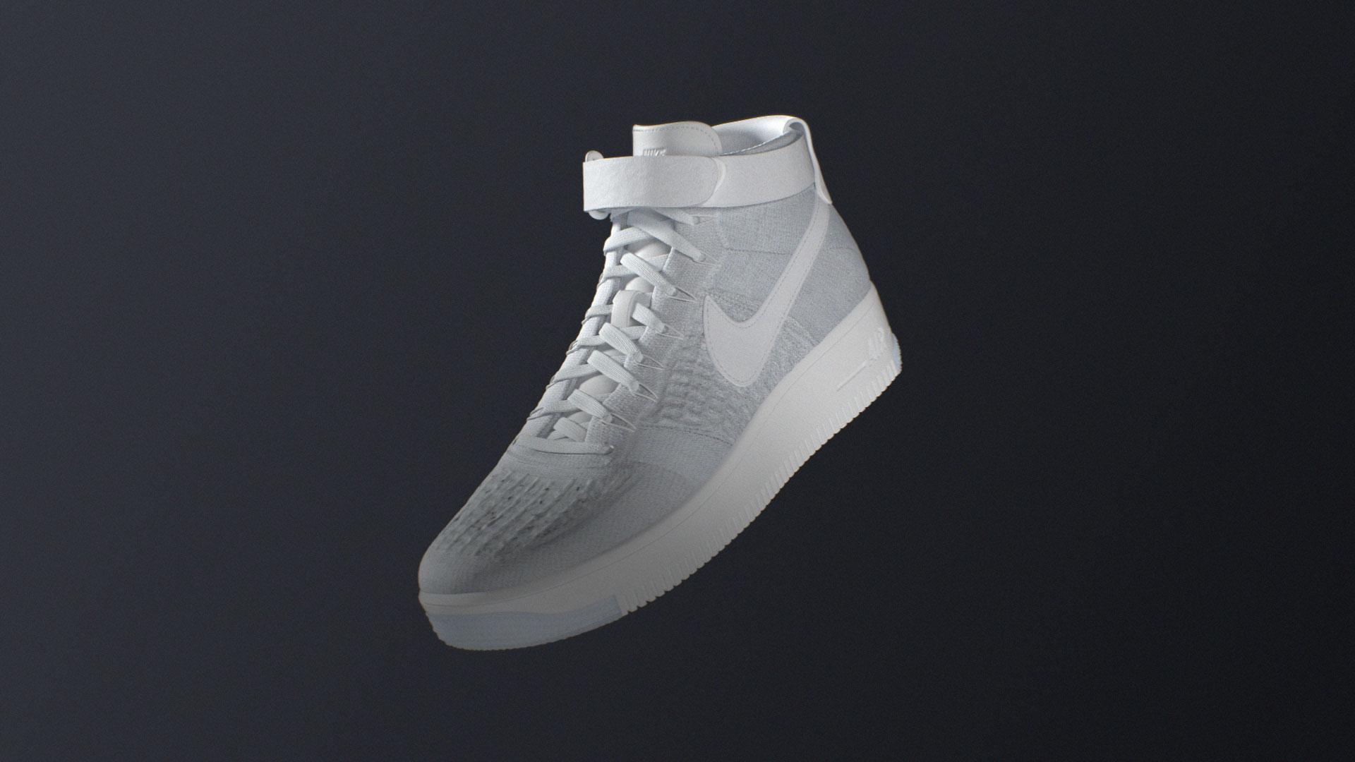 Nike Flyknit sport 3d cgi Air force 1 shoe