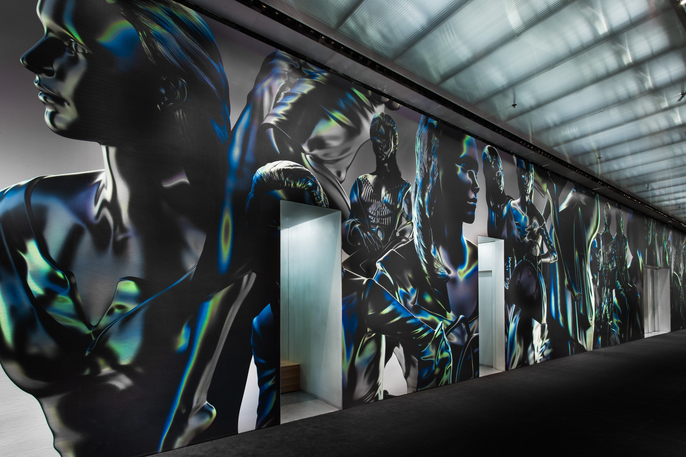 Prada 3d instore wallpaper New York store