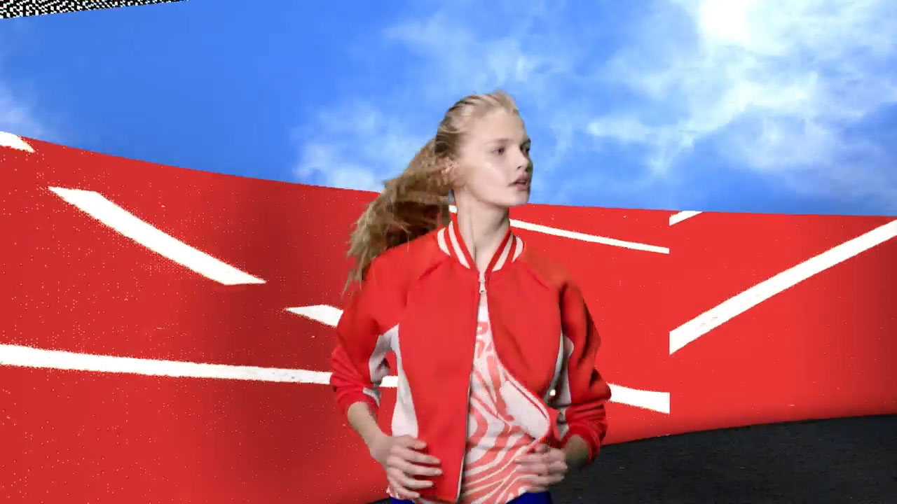 Stella McCartney Stella Sport 3d render running fashion cgi film video