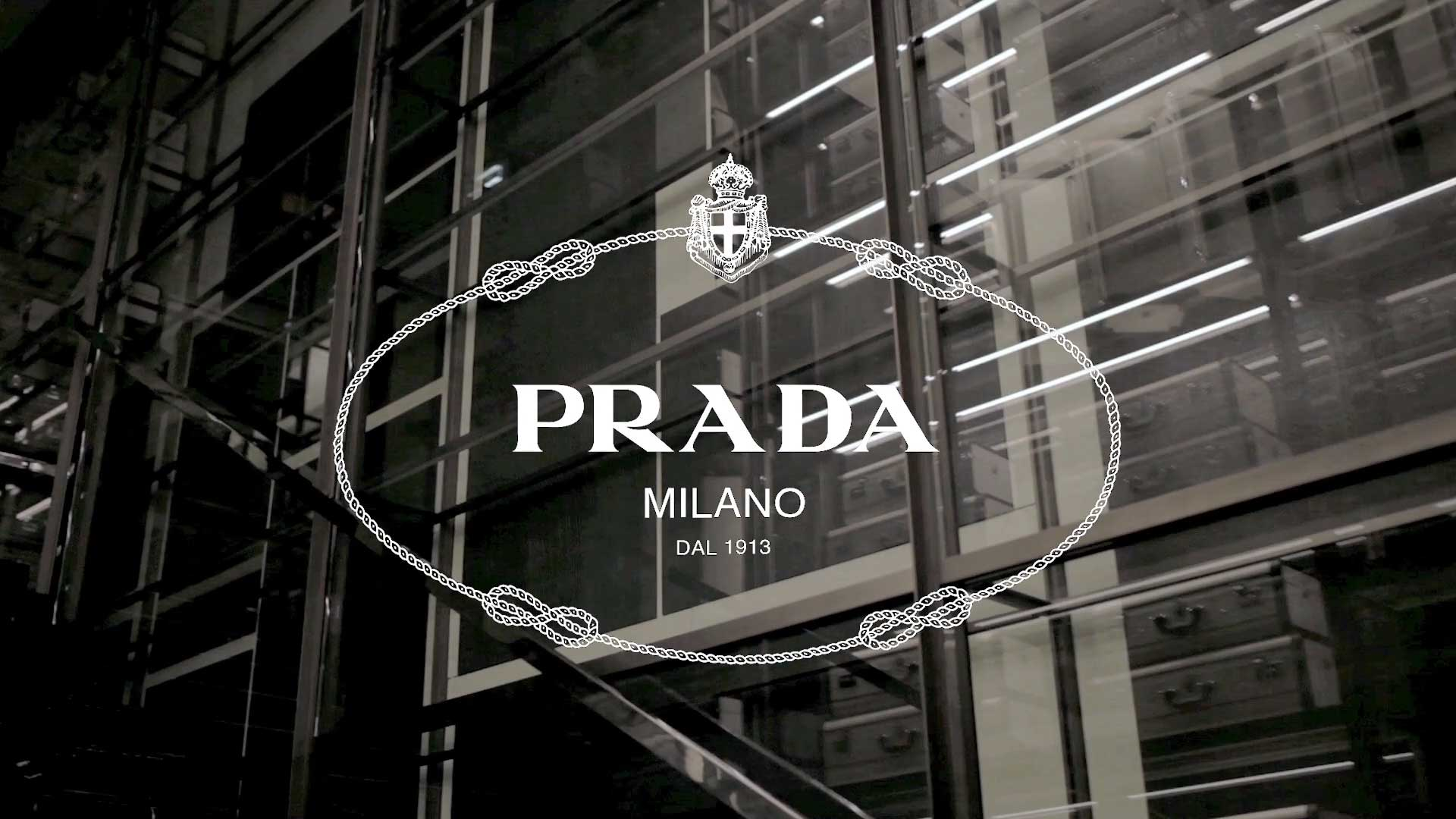 Prada flowers logo design cgi fashion instore store