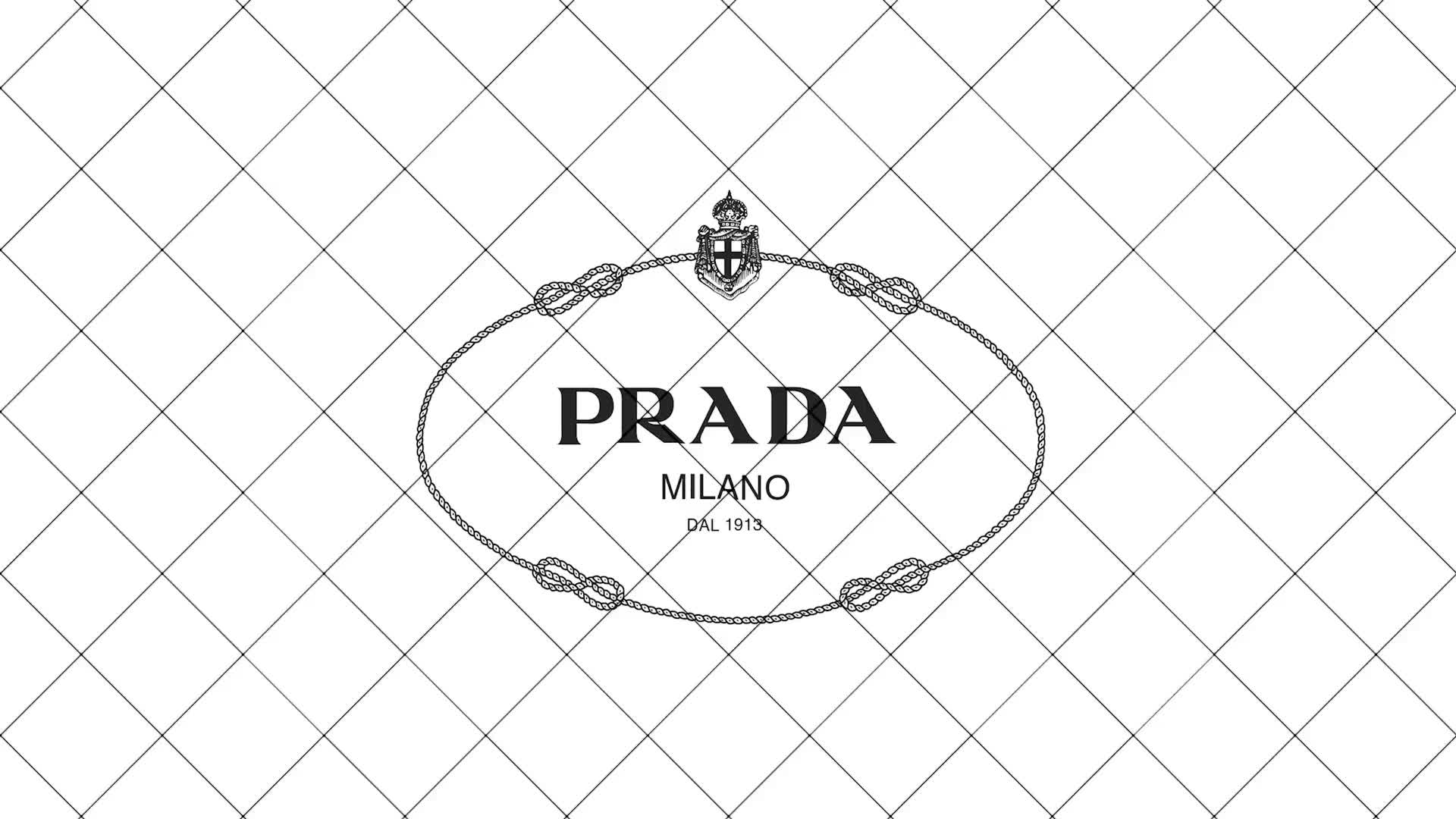 Prada flowers logo design cgi fashion film grid spin