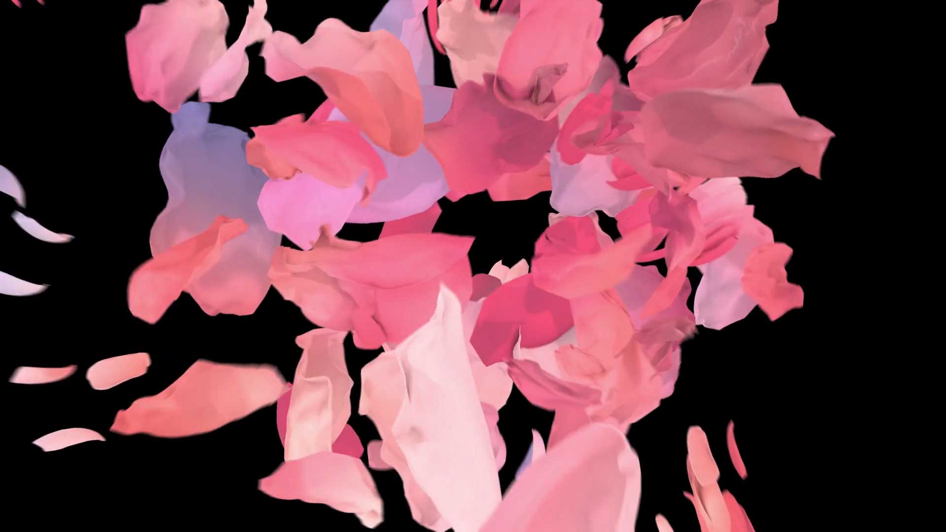 Prada flowers logo design cgi fashion film abstract flowers color