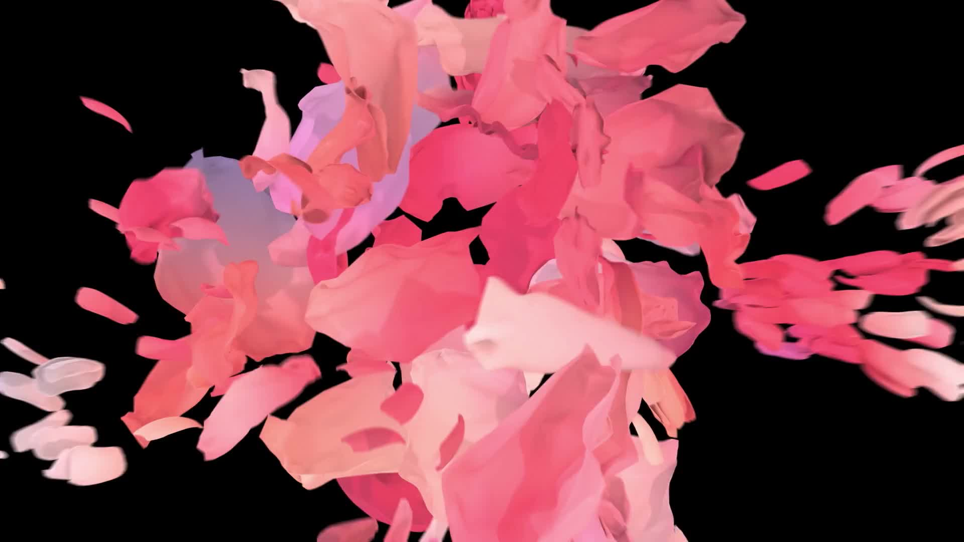 Prada flowers logo design cgi fashion film abstract flowers