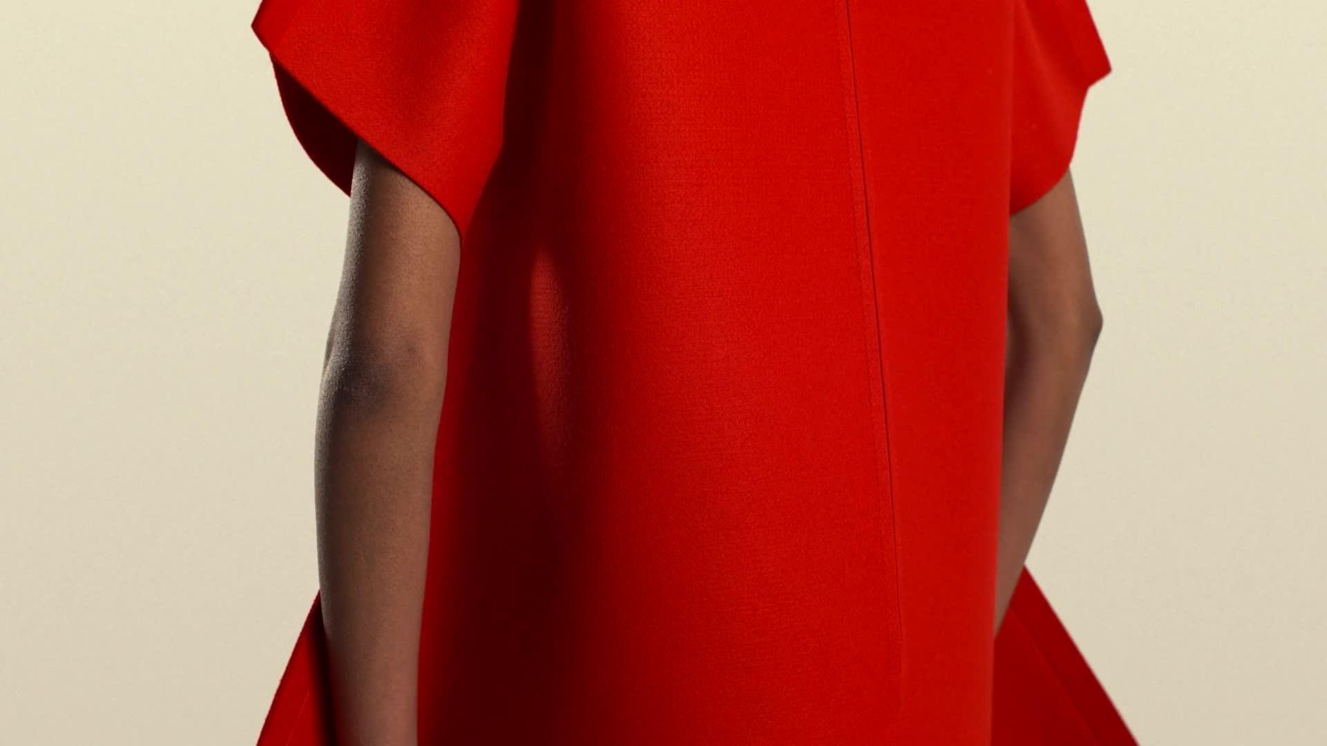 Wallpaper fashion design film red dress
