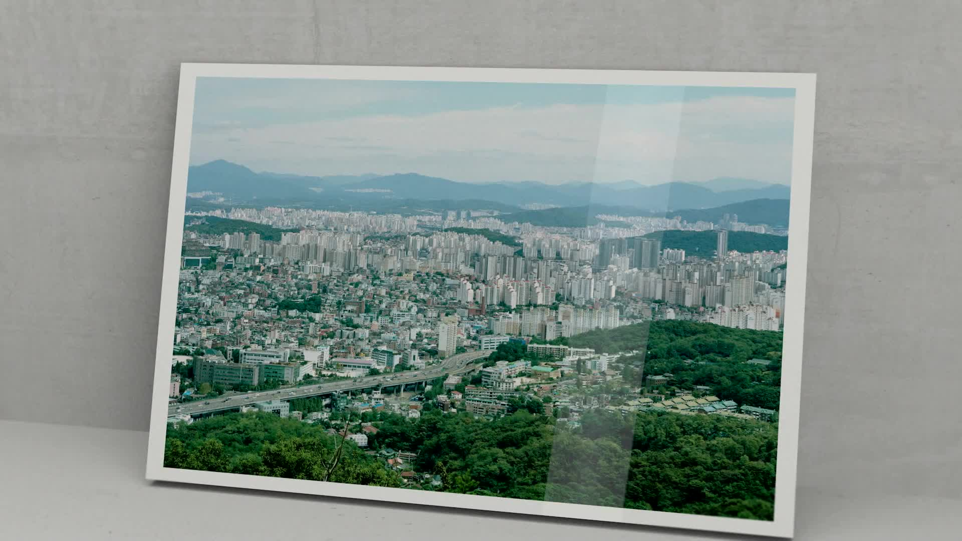 Wallpaper fashion design film city train 3d render