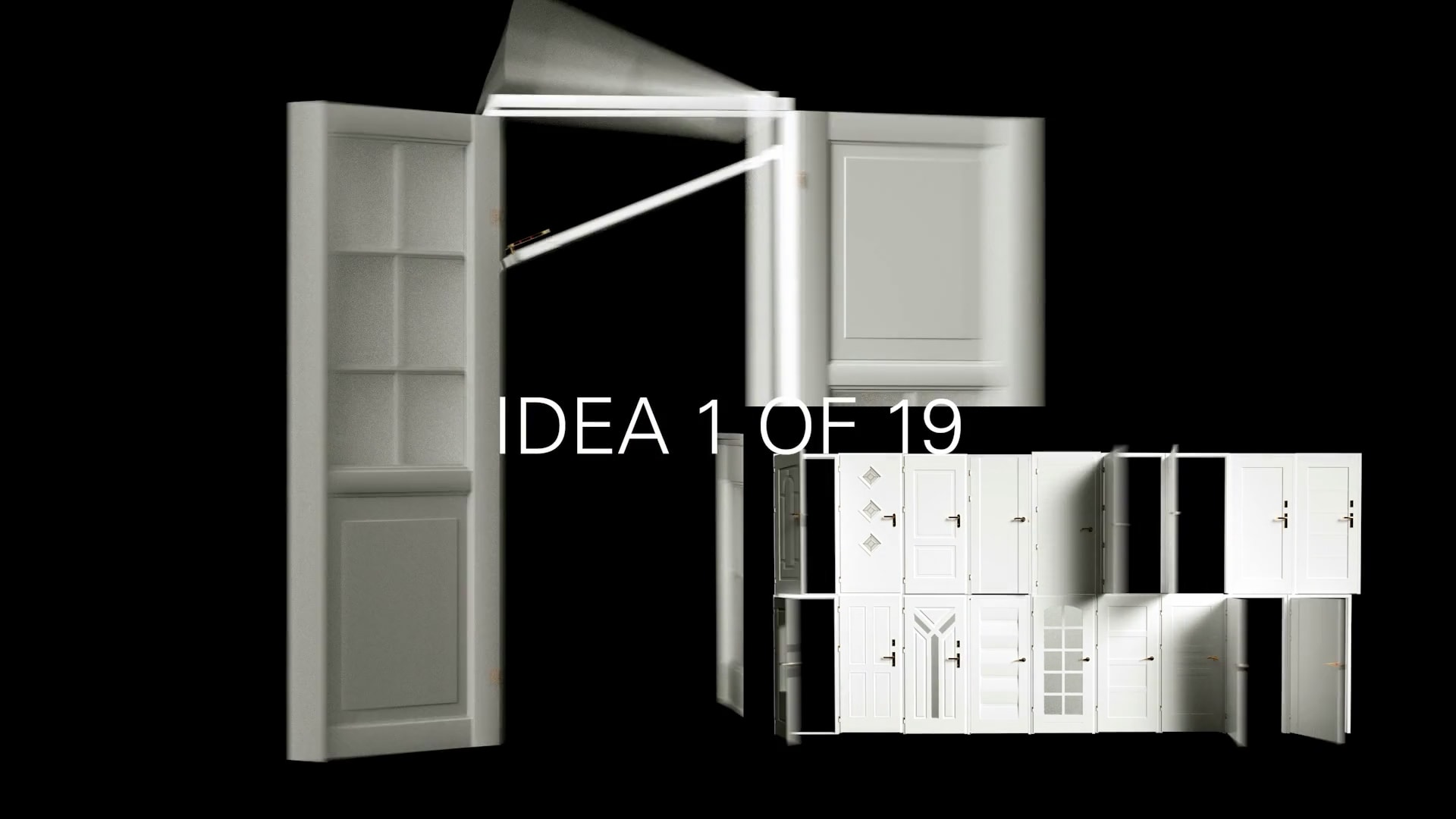 50 Days self initiated experiments doors surreal 3d cgi design video