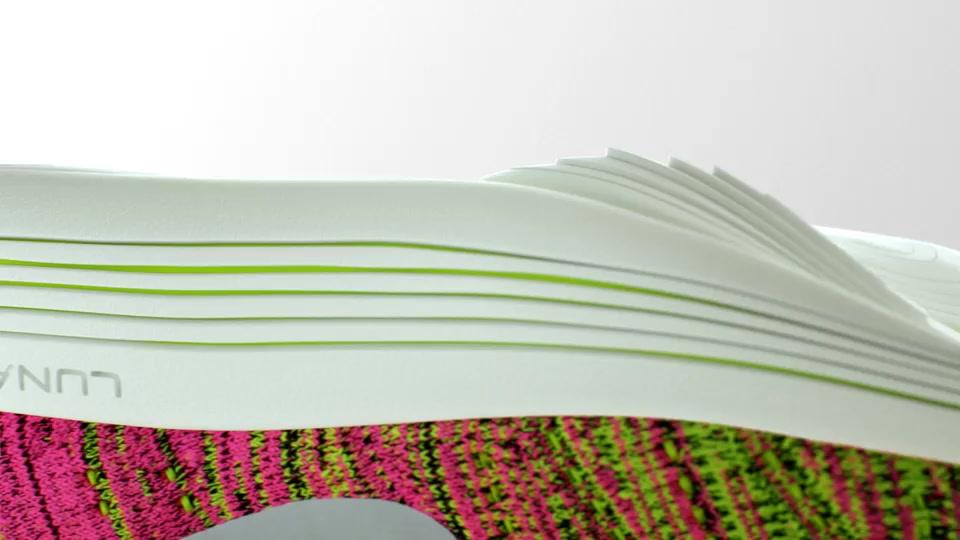 Nike Flyknit 3d shoe cgi design sole lunar ripple