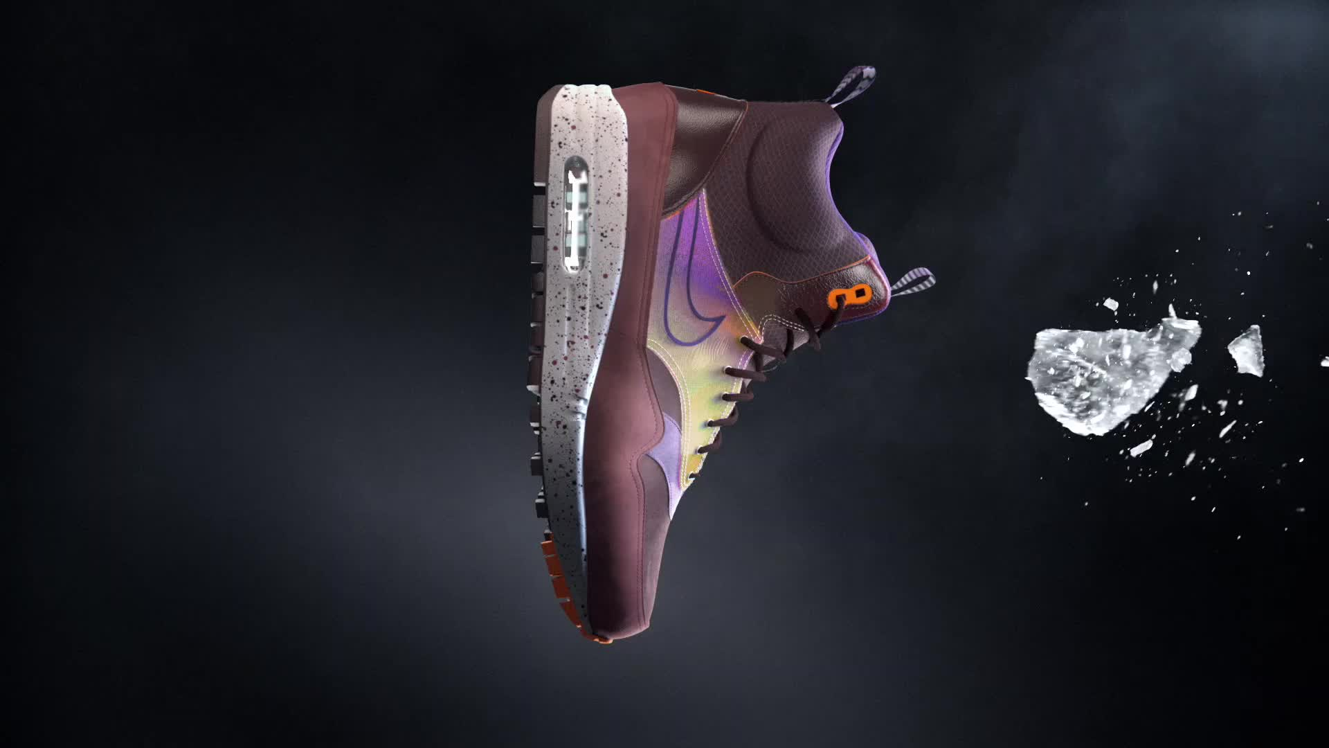 Nike Tech Pack Sneaker Boots 3d cgi warm ice air max